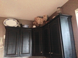 3. The top of the cupboards